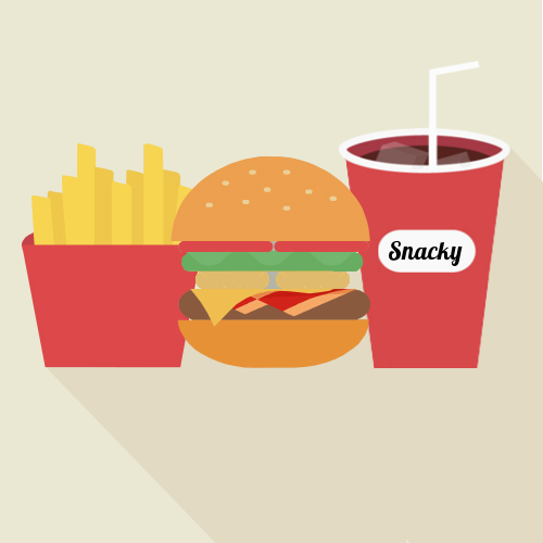 Snacky special burger menu