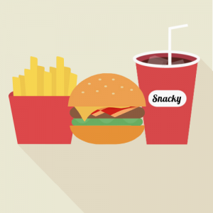 Snacky addict burger menu