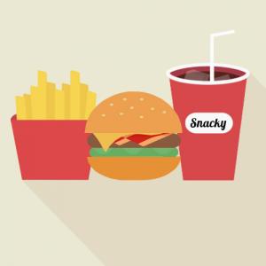 Snacky addict burger menu