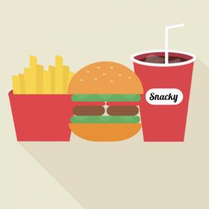 Falafel burger menu